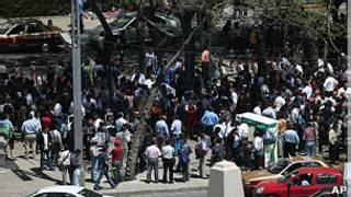 Cidade do México após tremor. AP