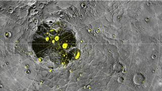 Радарные изображения Меркурия