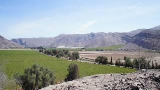 a lo largo de este sector del desierto de Atacama.
