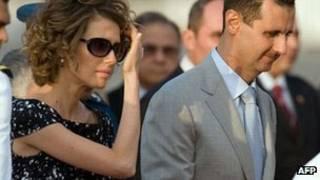 Asma al-Assad e Bashar al-Assad (AFP)