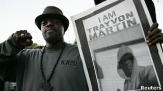 Manifestación por Trayvon Martin. Foto de archivo