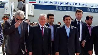 امامعلی رحمان، رئیس جمهوری تاجیکستان با محمود احمدی نژاد