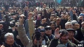 Митинг в Алма-Ате