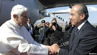 Benedicto XVI y Felipe Calderón