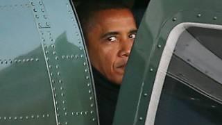 اوباما في المروحية