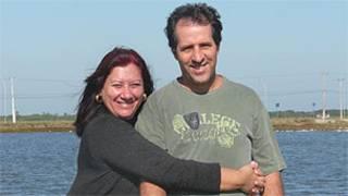 Rosângela Touson e o marido, Flavio Gomes (arquivo pessoal)