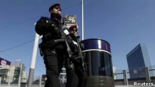韓國特警巡視峰會會場周邊