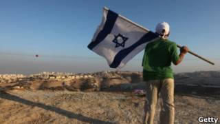 Израильский поселенец на Западном берегу