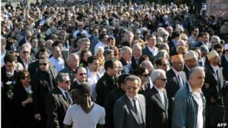راهپیمایی پیروان ادیان مختلف در تولوز