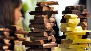 """Шоколадные батончики на """"шоколадной ярмарке"""" в Лилле"""