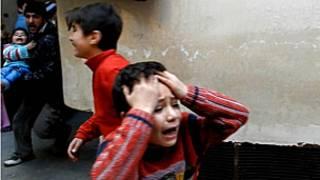 Сирийские дети под обстрелом