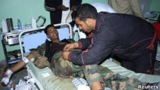 Раненый в больнице в Сабхе