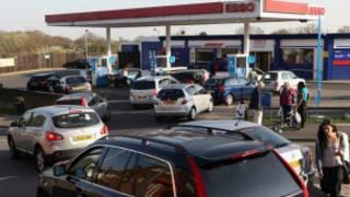 伦敦某地加油站