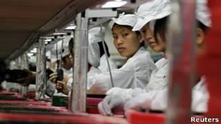Công nhân nhà máy Foxconn ở Quảng Đông, Trung Quốc