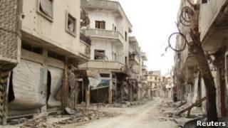 دمار في مدينة حمص