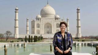 Dilma Rousseff no Taj Mahal