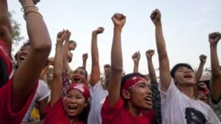 تجمع انتخابي في بورما