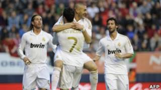فرحة لاعبي ريال مدريد