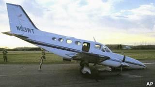 Самолет, на котором приземлилась Хелен Коллинз