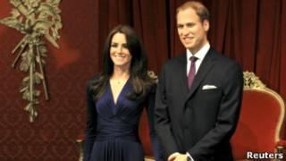 Восковые фигуры принца Уильяма и Кейт