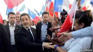 O presidente da França, Nicolas Sarkozy, em campanha pela reeleição