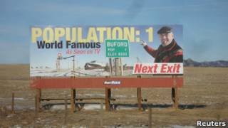 Плакат на въезде в Буфорд