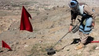 عملیات مینروبی در افغانستان، عکس از بایگانی