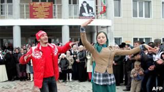 Танцы в Чечне
