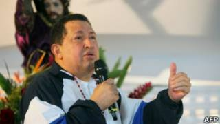 Chávez em missa por sua saúde em Barinas, na Venezuela. | Foto: AFP