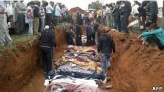 Enterro na Síria