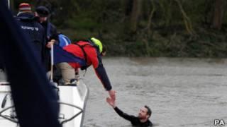 Пловец на Темзе