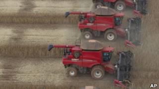 Colheita de soja em Mato Grosso