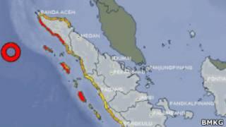 Peta pusat gempa