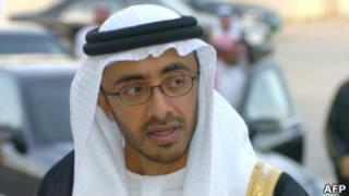 وزير خارجية الإمارات عبد الله بن زايد آل نهيان