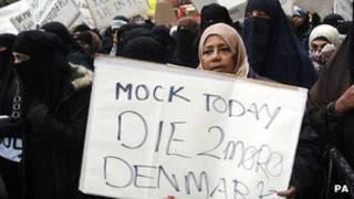 مظاهرات ضد الرسوم التي اعتبرت مسيئة للبني محمد