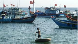 Các ngư dân trên đảo Lý Sơn
