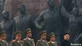 Lễ công bố tượng hai lãnh đạo Bắc Hàn