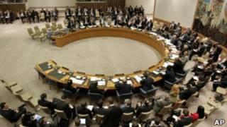Reunião do Conselho de Segurança na ONU. | Foto: AP