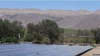 Paneles solares en el desierto de Atacama