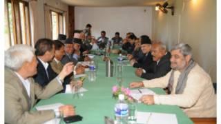 प्रमुख दलका नेताहरुको बैठक