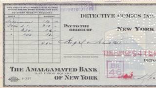 「超人」版權收購支票