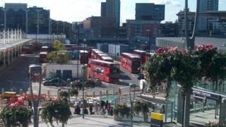 Vista de Stratford, bairro que sedia o estádio olímpico de Londres