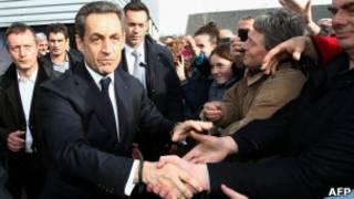 Presidente da França Nicolas Sarkozy