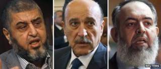 Хайрат Шатир, Омар Сулейман и Хазем Абу Исмаил