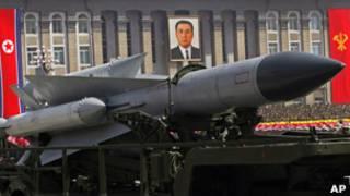 Ракеты на военном параде в КНДР