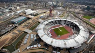 Vista geral do Parque Olímpico no dia 16 de abril