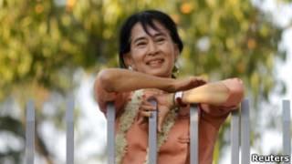 د برما مخالفه مشره انګ سان سوچي