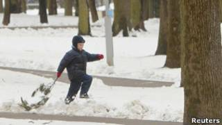 Ребенок на улице Белоруссии