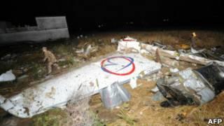 Обломки самолета в Пакистане