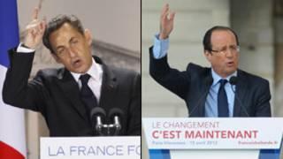 Hai ứng viên tổng thống Pháp Sarkozy và Hollande